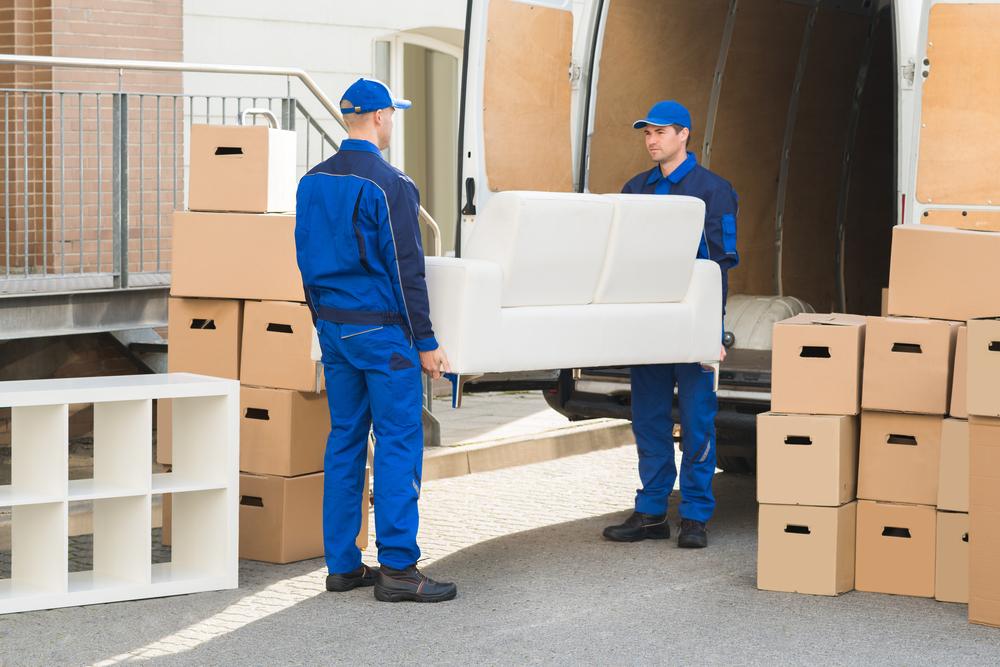 unloading moving truck