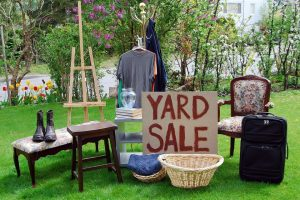 Yard sales are also places where you can find free moving boxes Miami