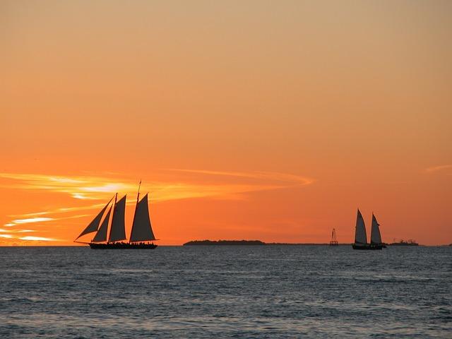 boats on a sea