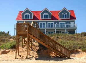 The porch connects your house to the beach.