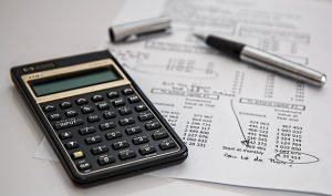 Calculator and moving estimate paper