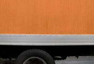 Orange moving truck - the sign that our Florida City movers are on the job.