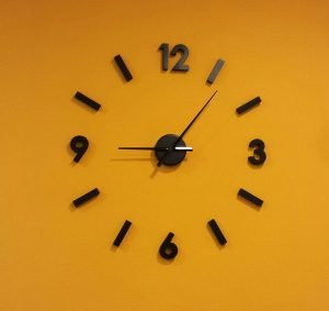 Orange clock to keep track that your long distance move will be handled in record time.