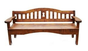 When renting a storage unit for wooden furniture like this bench, get AC.