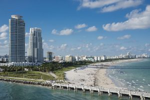 Panorama of Miami Beach - with a little help from our local movers Miami, this could be your new home.
