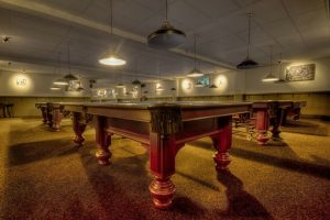 Room with few pool tables can be relocate with professional help