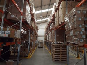 Warehouse filled with boxes for your short-term and long term storage needs.