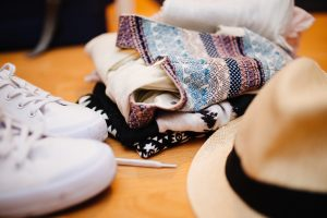 A hat and shoes - you need to decide what you take with you.