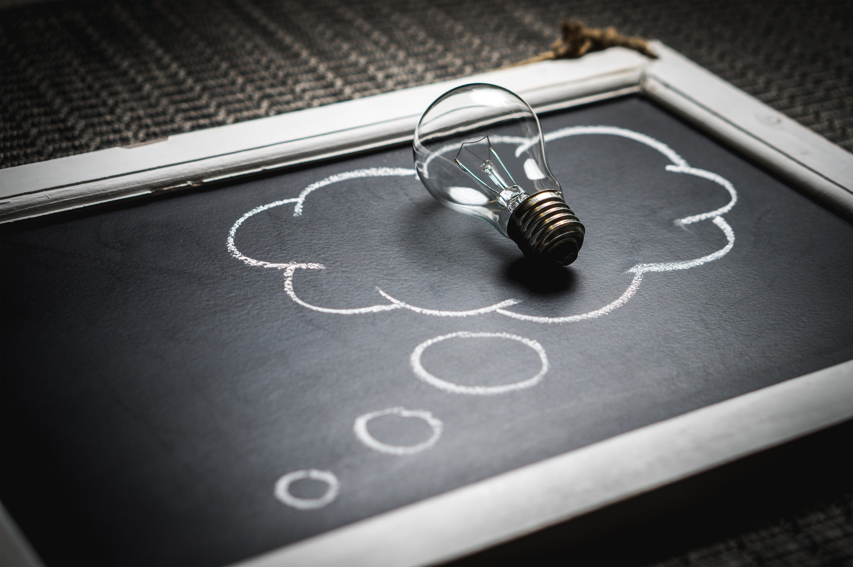 A light bulb, symbolizing ideas startups have