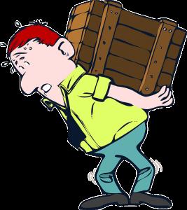 Man lifting a heavy box