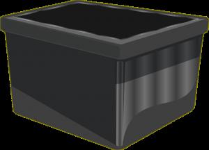 A plastic bin.