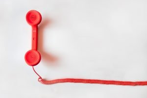 A red phone - communication is important with Hialeah movers.