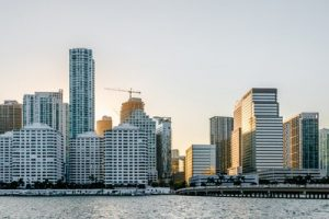 Downtown Miami, as shown here, is a place corporations often ask our Miramar movers to move their offices to