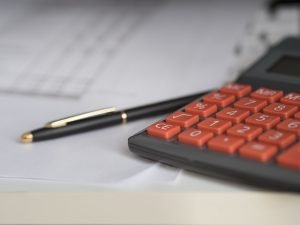 Calculator, pen, paper