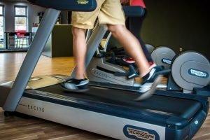 Man exercising on a treadmill