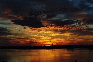 Biscayne Bay at sunset.