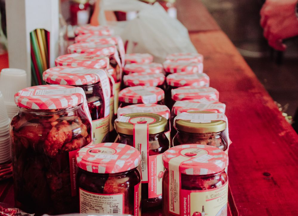 Jars with jam.