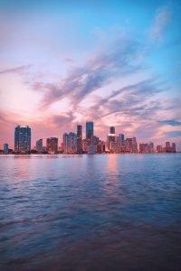A part of Miami skyline.