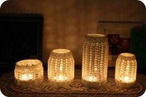 Crafty jar candles
