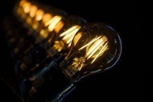 Light bulbs in energy-efficient homes.