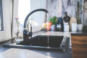 A kitchen faucet.