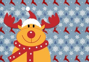 A picture of Rudolph the Reindeer.