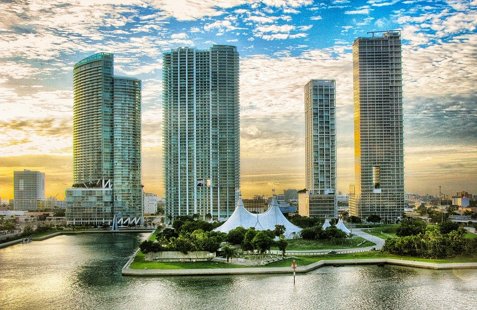 Miami view from the sea