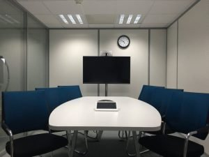 Conference room with a flat screen TV