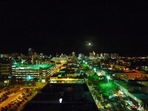 Night view of Miami from Juvia