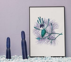 Cactus and a painting
