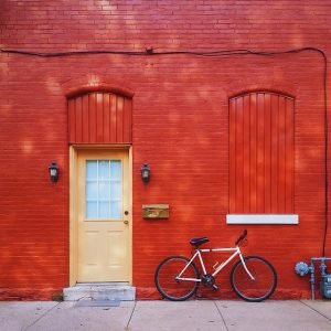 door and bike