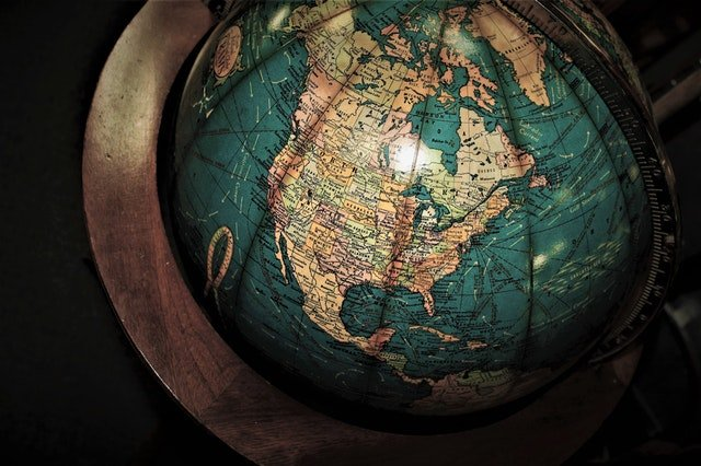 A globe is a great way to see where are you going when nationwide moving