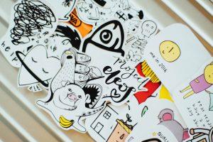 many stickers