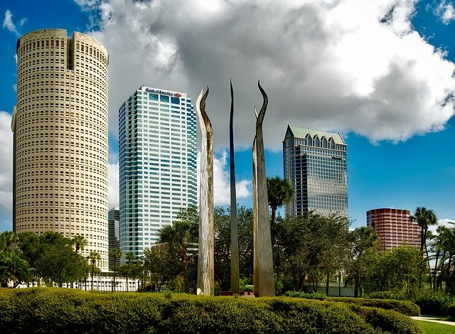 High rise buildings in Tampa, Florida