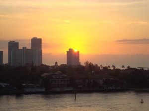 Sunset in Fort Lauderdale