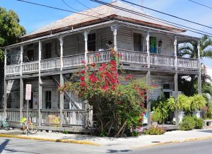Old wood house in Key West