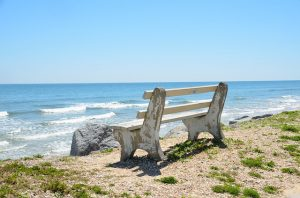 You can have a beach bench just for you after retiring to Florida